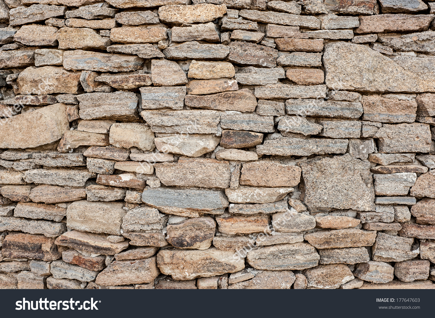 Decorative Old Look Rough Surface Rubble Stock Photo 177647603.