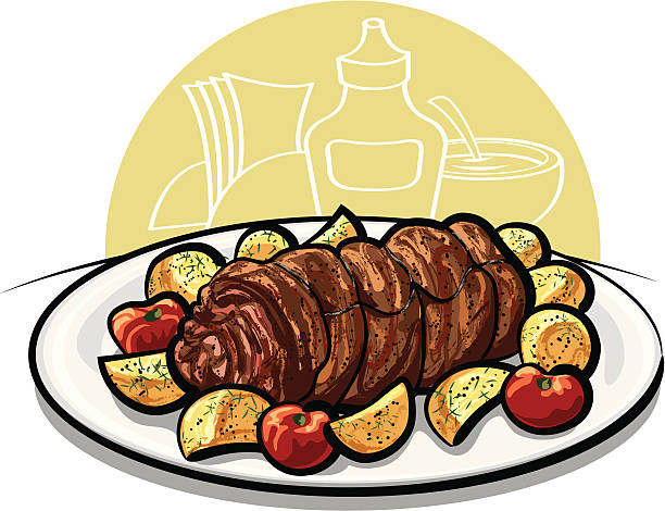 Stuffed Roulade Clip Art, Vector Images & Illustrations.