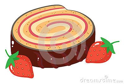Chocolat Roulade Stock Illustrations.