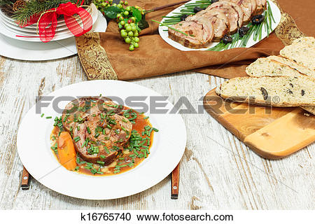 Stock Photography of Veal Roulade. Holiday Meat Roulade k16765740.
