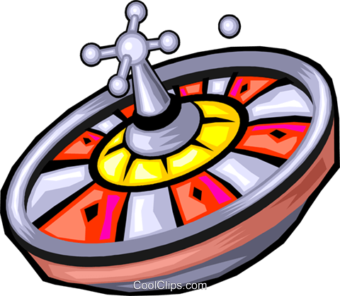 roulette wheel Royalty Free Vector Clip Art illustration.