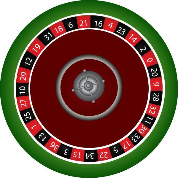 Roulette wheel clip art.