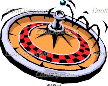 Roulette wheel clipart.