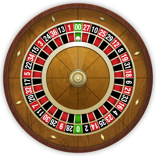 Brown Roulette Wheel transparent PNG.