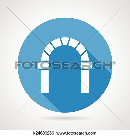 Clip Art of Flat circle vector icon for round arch k24686266.