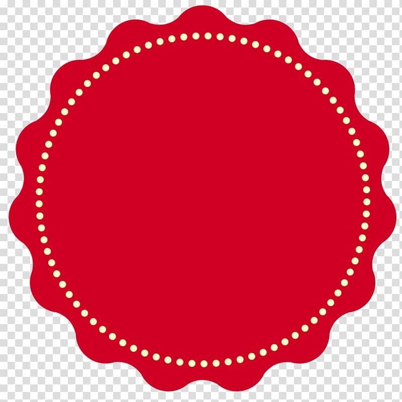 Round red ribbon , Logo Badge, Badge transparent background.