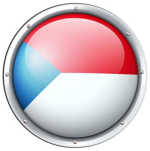 Chile flag design on round badge.