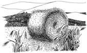Clip Art Straw Bales Clipart.