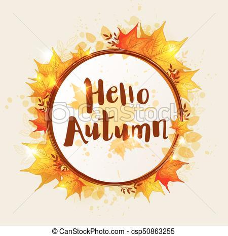 Round autumn banner.