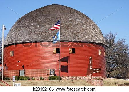 Stock Image of Round barn k20132105.