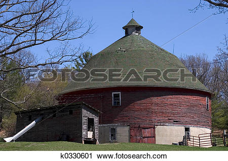 Stock Photography of Round Barn k0330601.