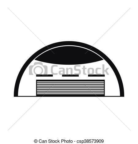 Vector Clipart of Round barn icon, simple style.