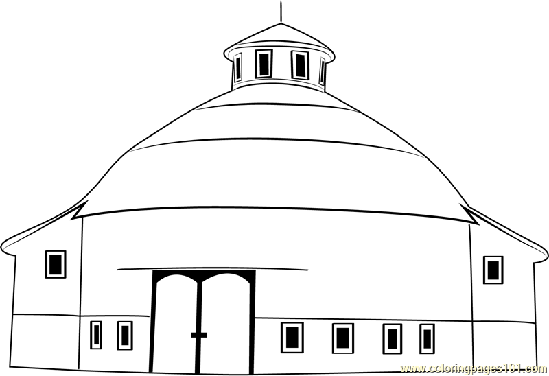 Amish Acres Round Barn Theatre Coloring Page.