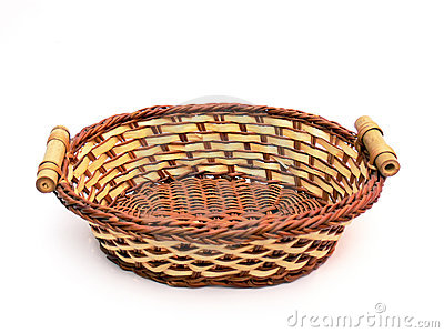 Empty Wicker Basket Stock Photography.