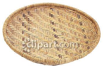 Clip Art Round Basket.