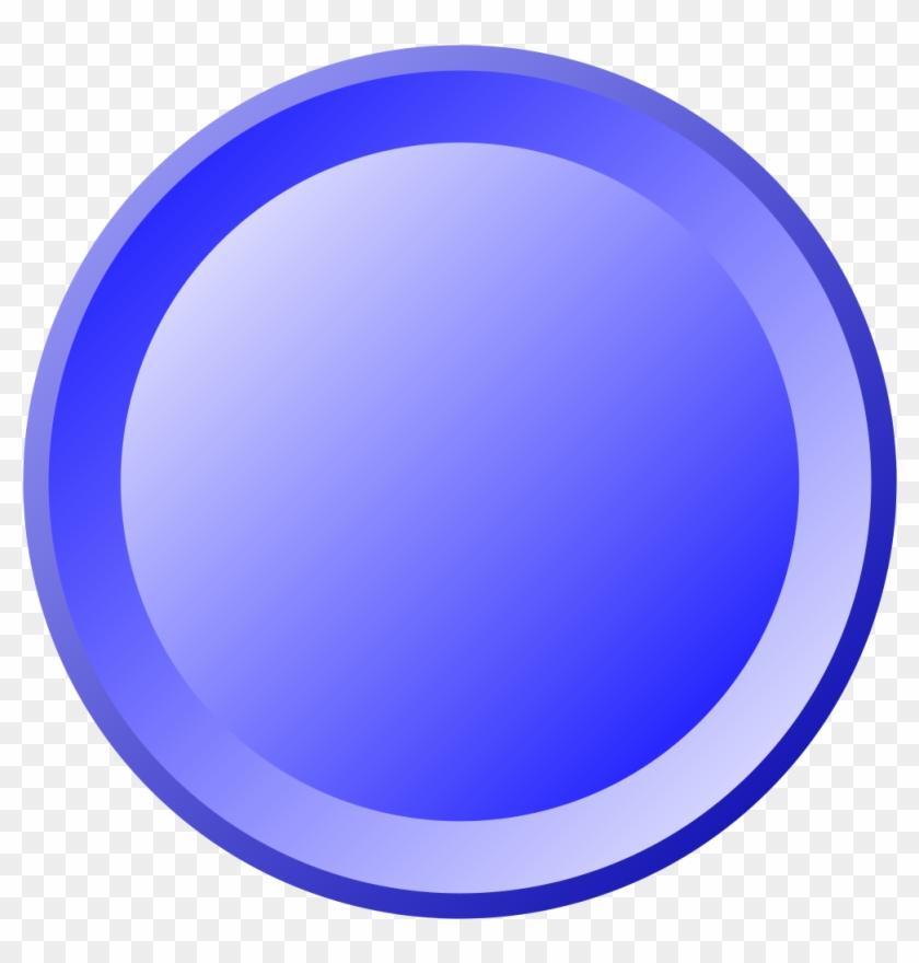 Blue Round Button.