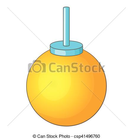 Clip Art Vector of Round ceiling lamp icon, cartoon style.