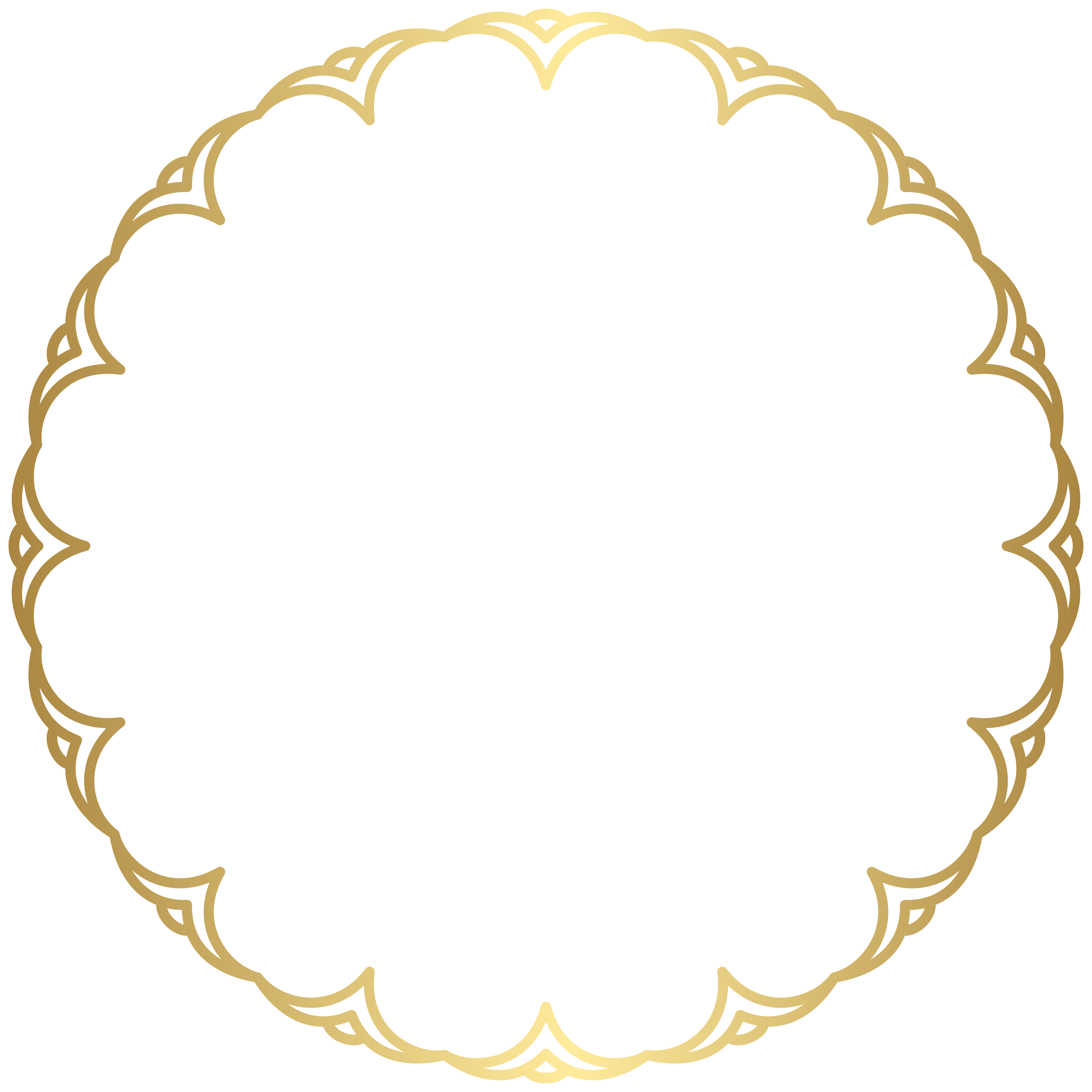 Border Frame Round PNG Clipart.