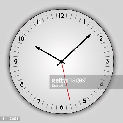 Vector abstract simple round clock Clipart Image.