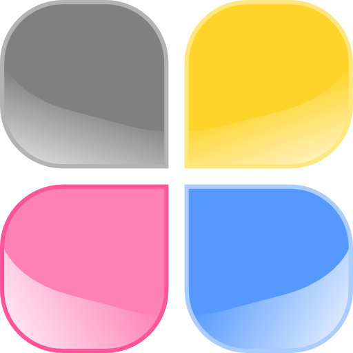 Jelly Buttons Square With Rounded Corners Clipart.