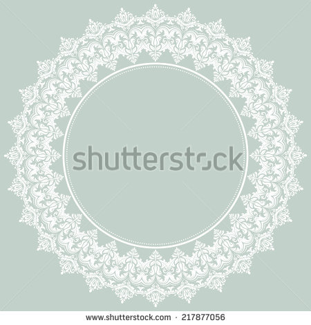 Damask Seamless Silver Ornament Fine Vector Stock Vector 293840057.