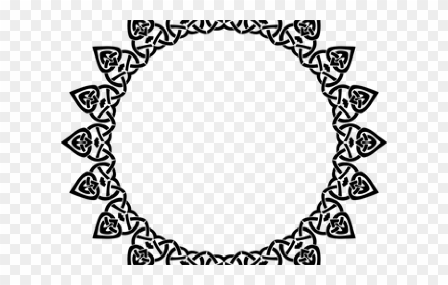 Scroll Clipart Round Design.
