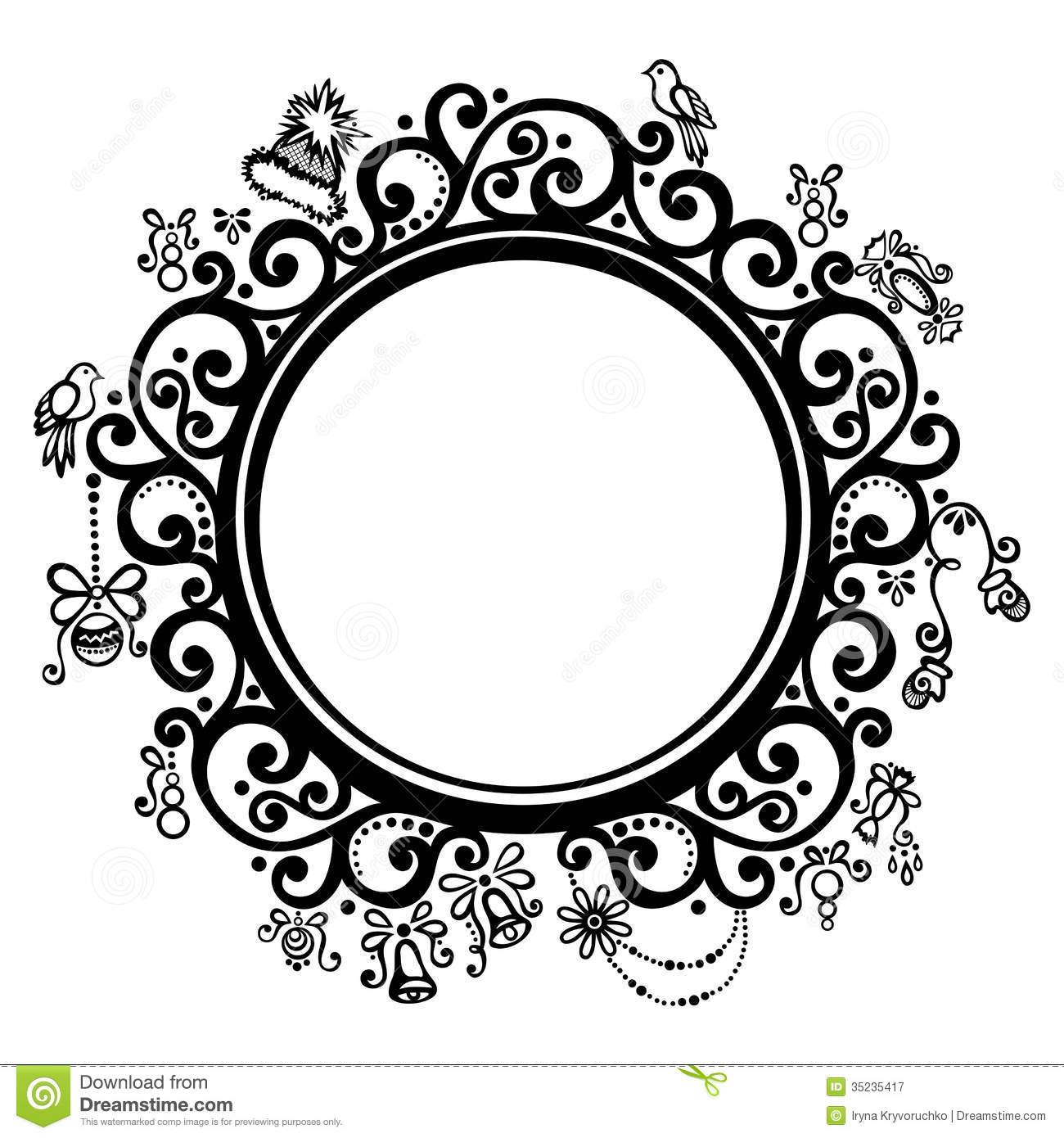 Round Design Clipart.