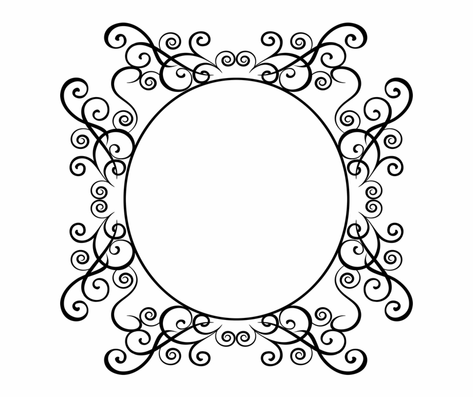 Henna Floral Round Designs Photo Transparent Flourish Frame.