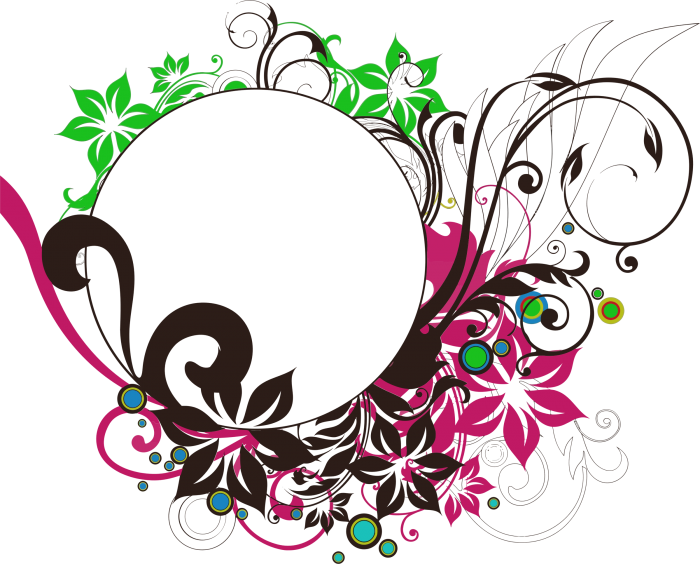 Round Design Frame Png Vector, Clipart, PSD.