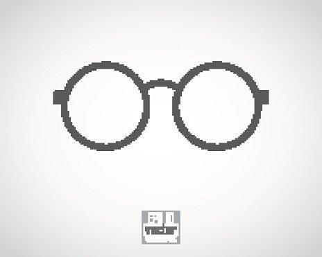 round eyeglasses Clipart Image.