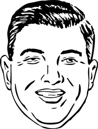 Short Round Face clip art Clipart Graphic.