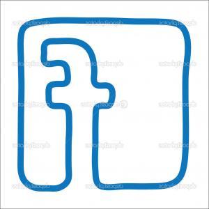 Excellent Stock Illustration Original White Round Blue Facebook.