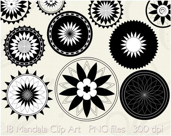 round flower clipart