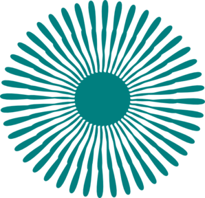 Round Teal Flower Clip Art at Clker.com.