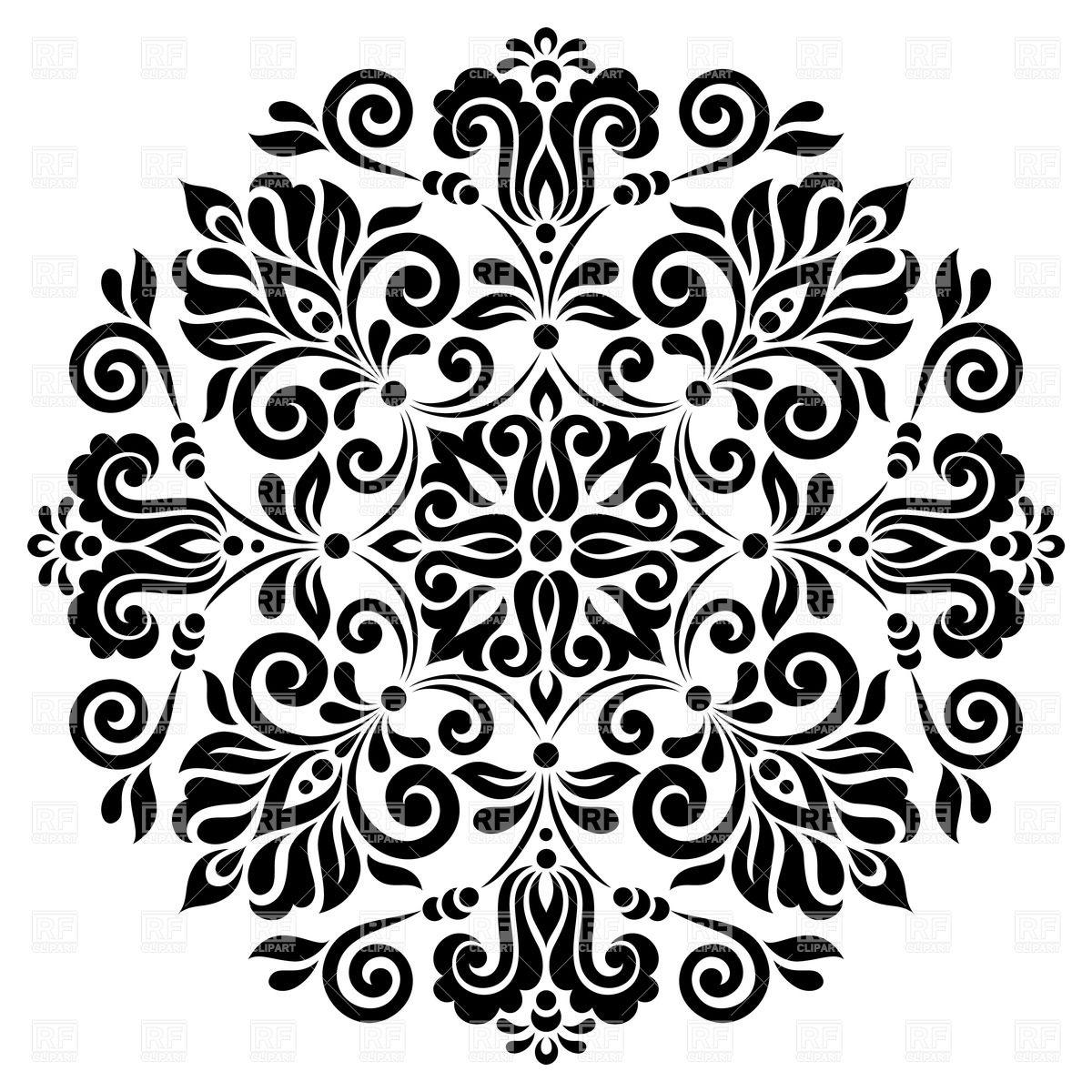Round Flower Clipart.