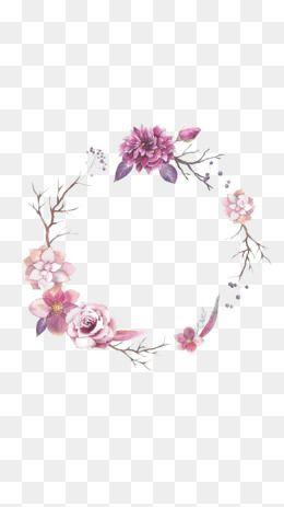 2019 的 Flower Border, Flower Clipart, Round Border.