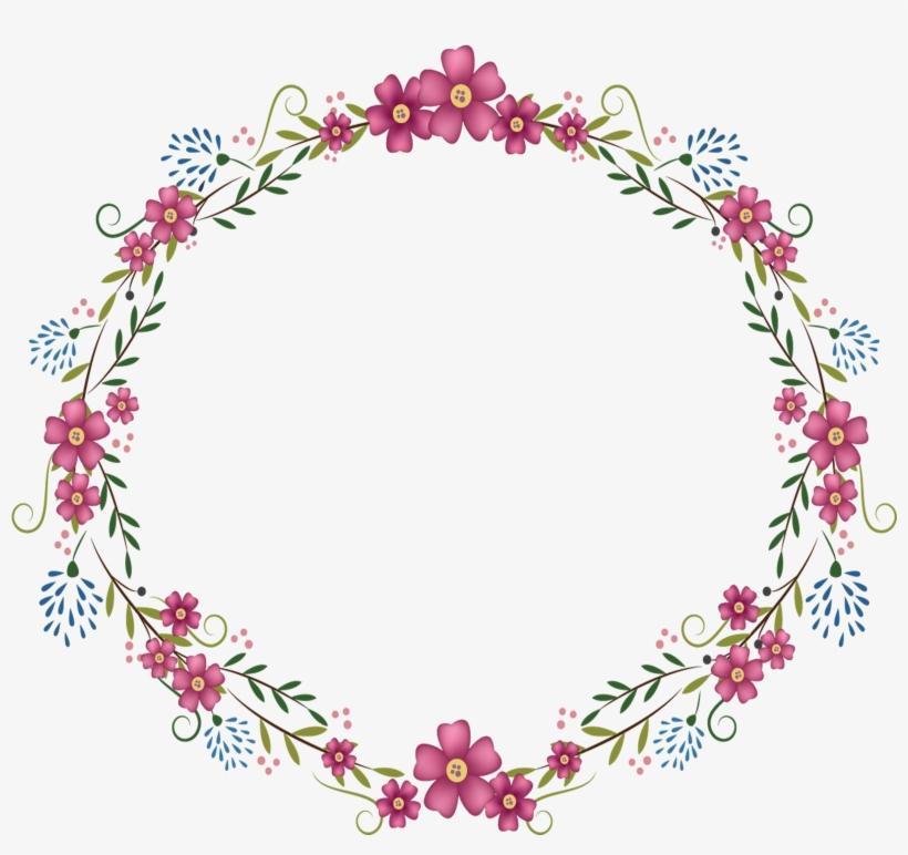 Round Flower Frame Png.