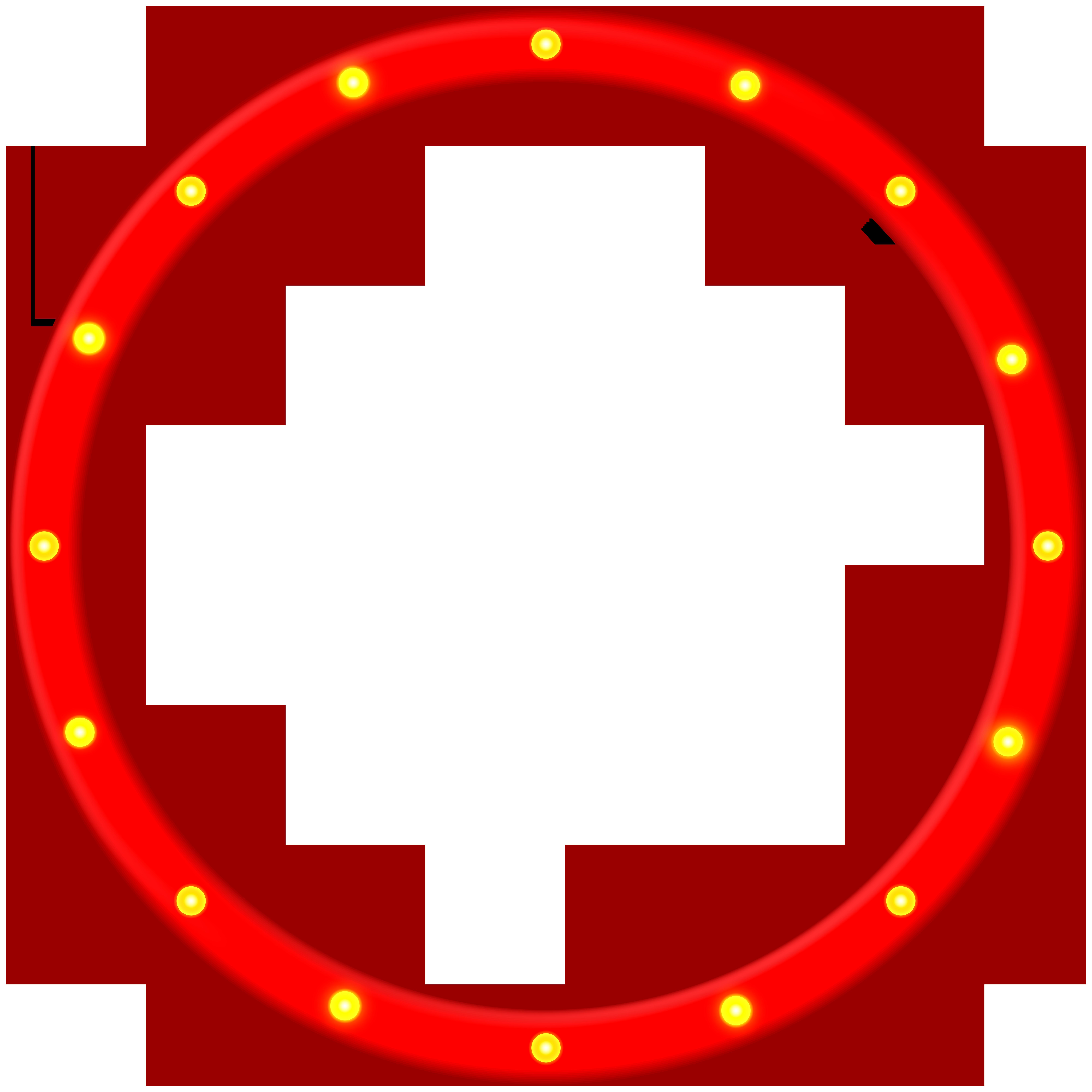 Red Round Border Frame PNG Clip Art Image.