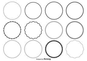 Round Frame Free Vector Art.