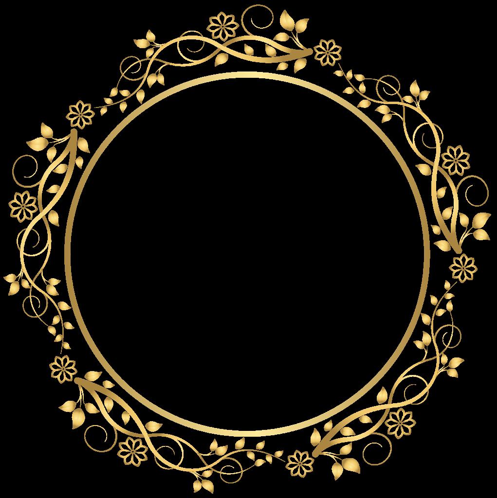 Round Frame Transparent Images.