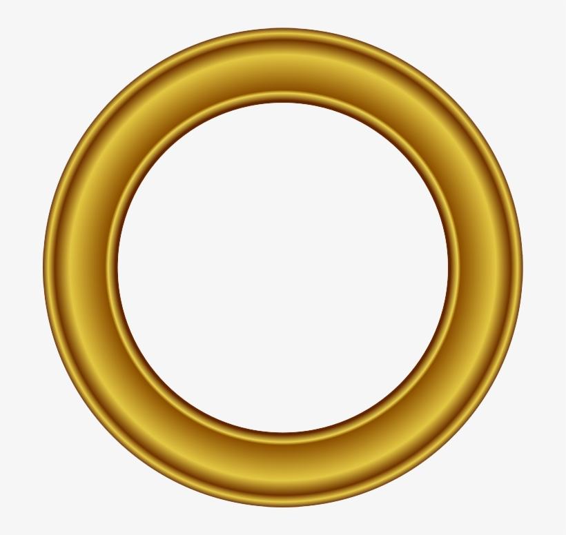 Golden Round Frame Png Free Download.
