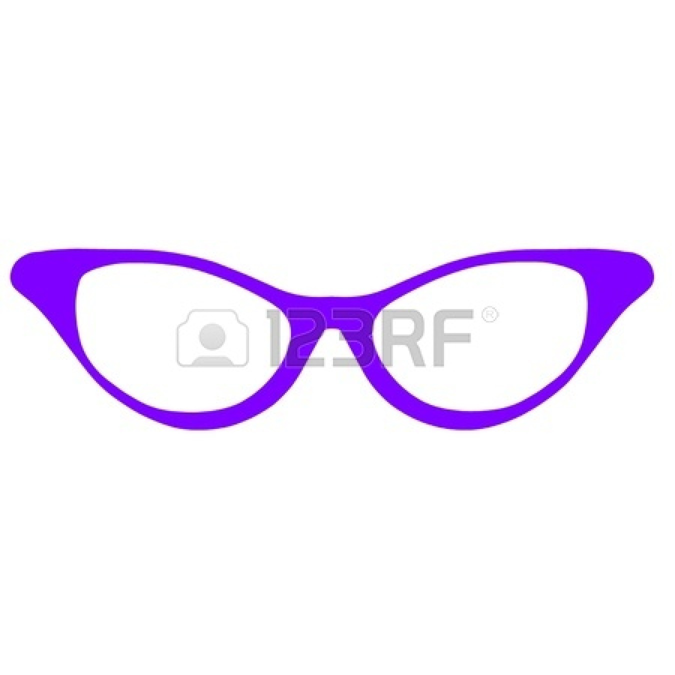 Round Glasses Clipart.