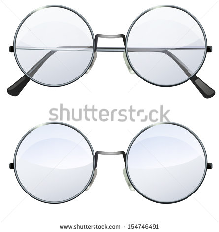 Round Glasses Stock Photos, Royalty.
