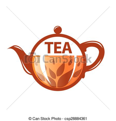 Clip Art Vector of vector logo round glass teapot csp28884361.