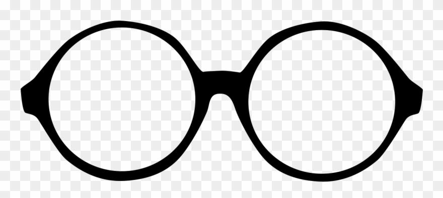 Graphic Library Stock Clip Glasses Round.