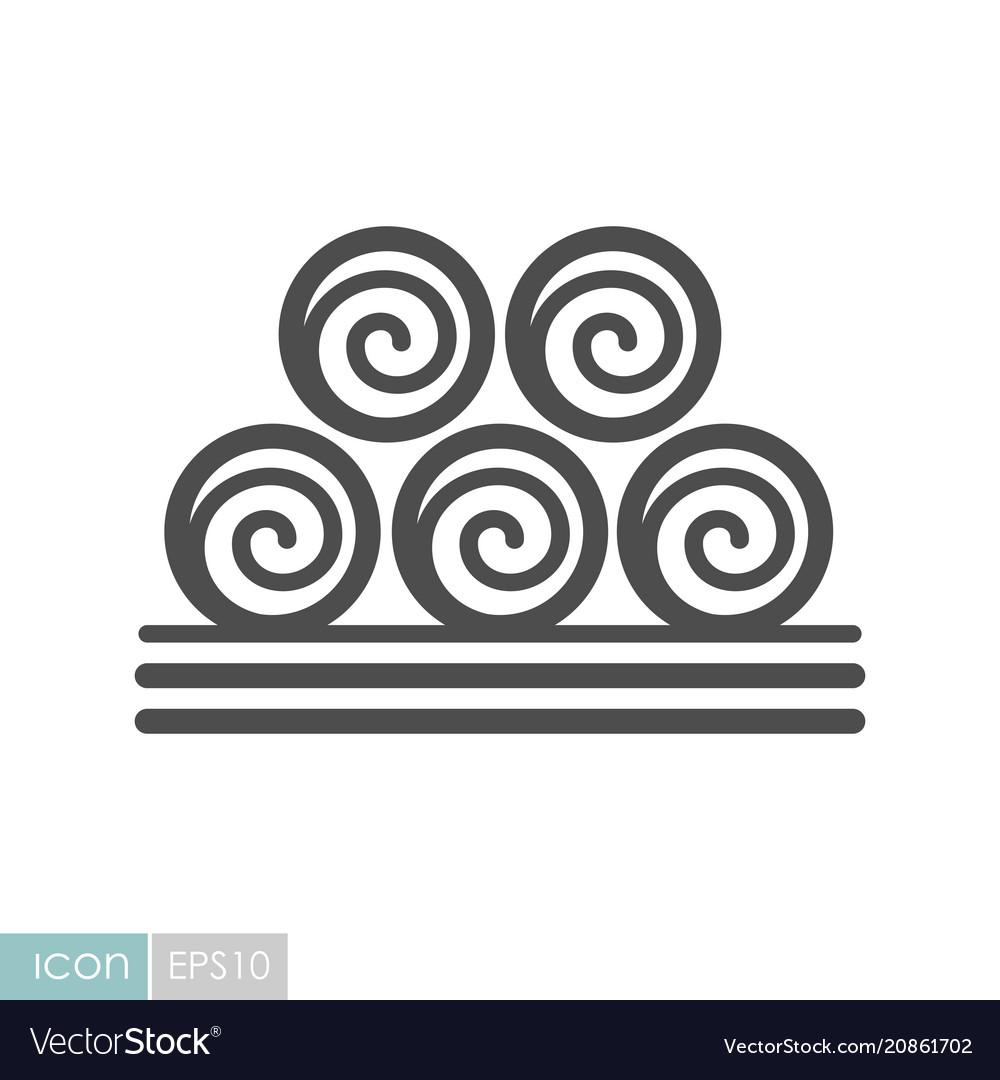 Round hay bales icon.