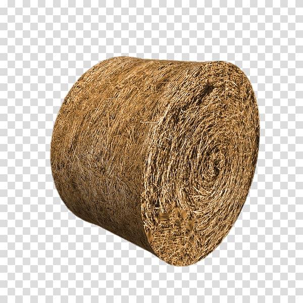 Round brown hay illustration, Round Hay Bale transparent.