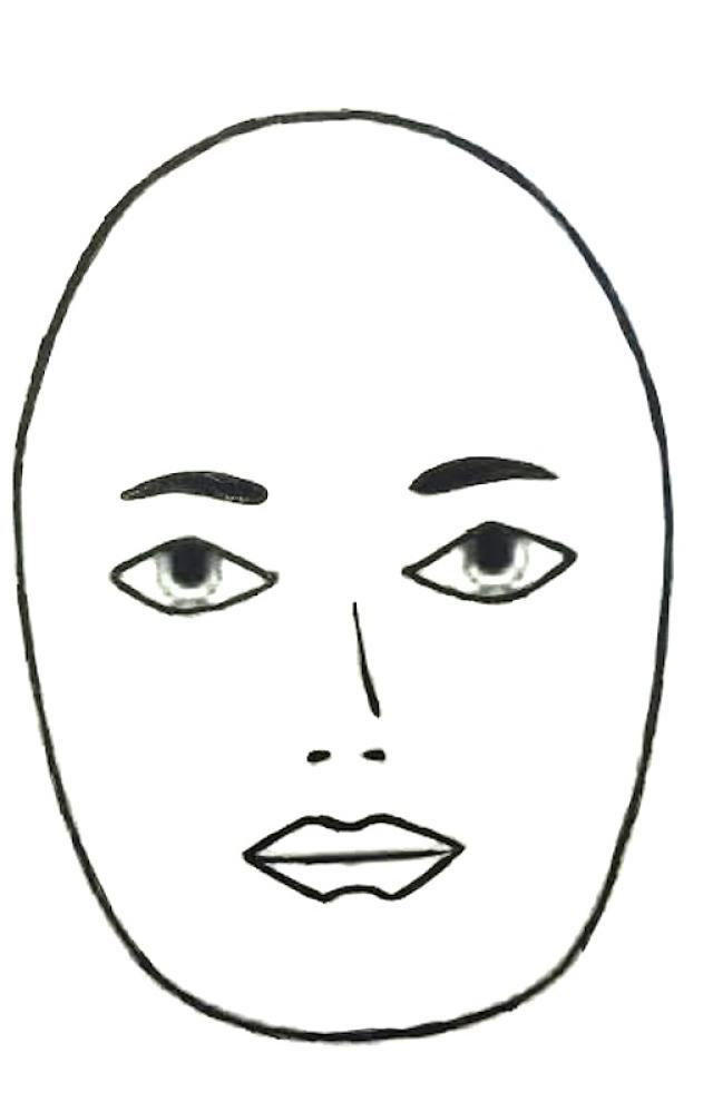 Round face clipart.