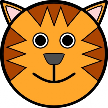 Happy animal face clipart.