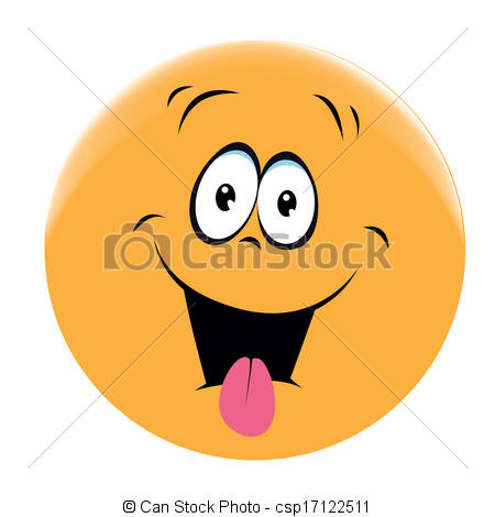 Vector Clip Art of smiling face.